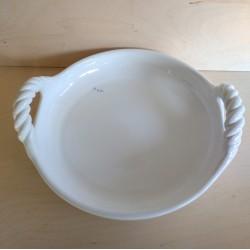 Λευκή κεραμική σαλατιέρα
